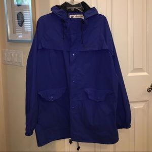 Columbia hooded raincoat
